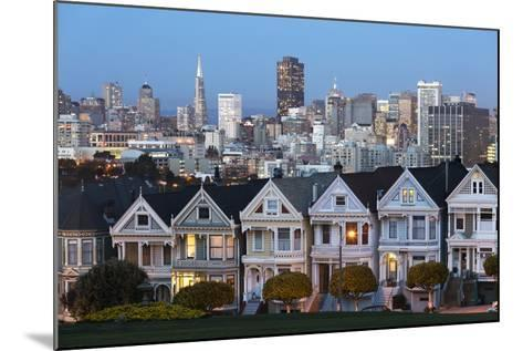 The Painted Ladies and the City at Dusk-Stuart-Mounted Photographic Print