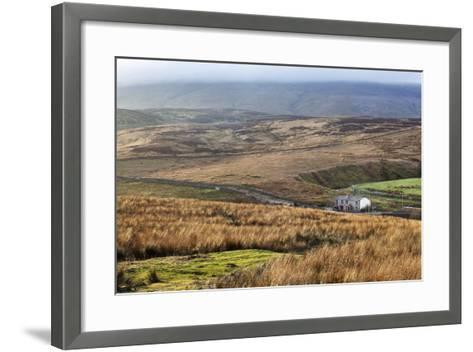 Isolated House by the Road in Garsdale Below Baugh Fell-Mark-Framed Art Print