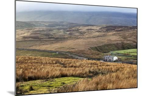 Isolated House by the Road in Garsdale Below Baugh Fell-Mark-Mounted Photographic Print