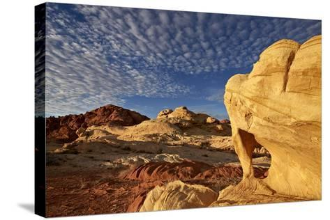 Sandstone Arch under Clouds-James-Stretched Canvas Print