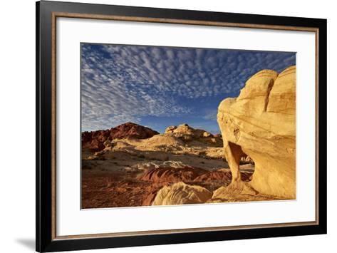 Sandstone Arch under Clouds-James-Framed Art Print