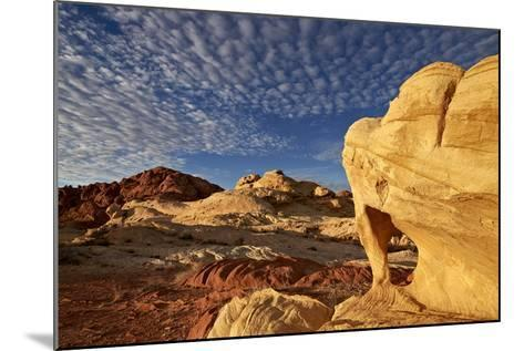Sandstone Arch under Clouds-James-Mounted Photographic Print
