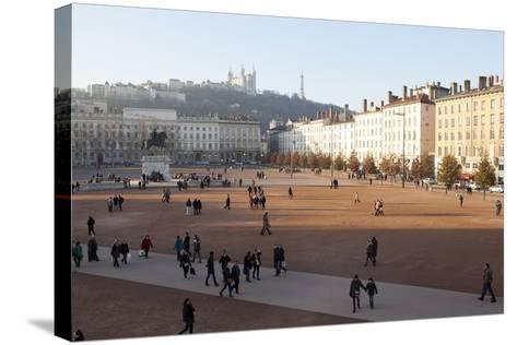 Place Bellecour, Lyon, Rhone-Alpes, France, Europe- Oliviero-Stretched Canvas Print