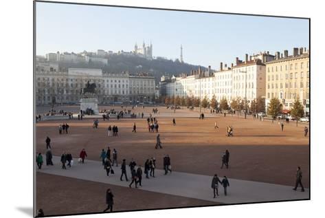 Place Bellecour, Lyon, Rhone-Alpes, France, Europe- Oliviero-Mounted Photographic Print