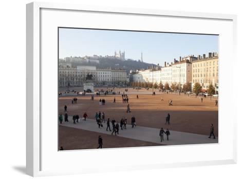 Place Bellecour, Lyon, Rhone-Alpes, France, Europe- Oliviero-Framed Art Print
