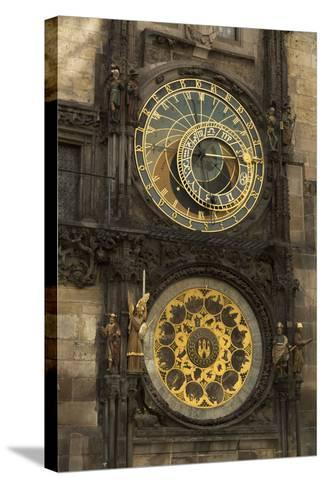 Astronomical Clock, Old Town Hall, Prague, Czech Republic, Europe-Angelo-Stretched Canvas Print