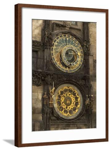 Astronomical Clock, Old Town Hall, Prague, Czech Republic, Europe-Angelo-Framed Art Print