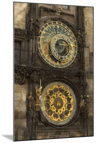 Astronomical Clock, Old Town Hall, Prague, Czech Republic, Europe-Angelo-Mounted Photographic Print