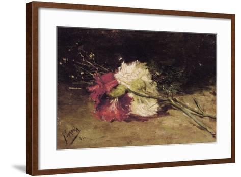 Carnations-Joaqu?n Sorolla y Bastida-Framed Art Print
