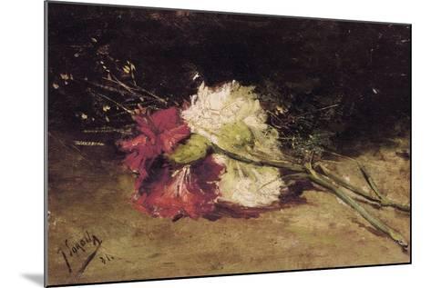 Carnations-Joaqu?n Sorolla y Bastida-Mounted Art Print