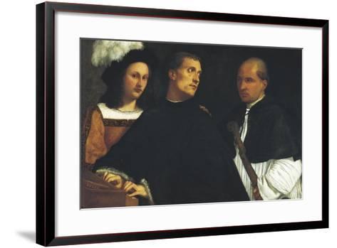 Interrupted Concert-Titian (Tiziano Vecelli)-Framed Art Print