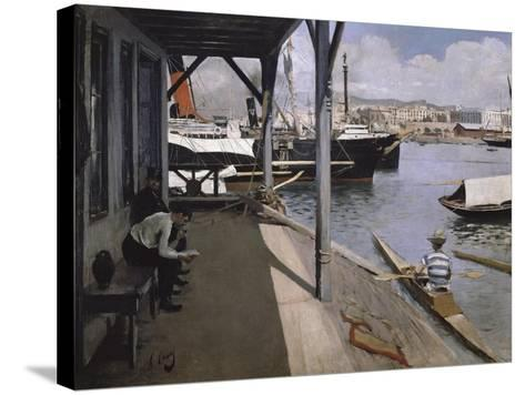Barcelona Yacht Club-Ramon Casas i Carbo-Stretched Canvas Print