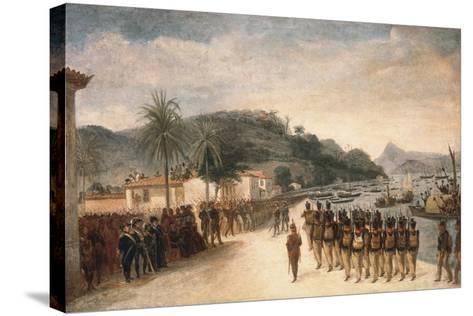 1811-14 Expedition Against Montevideo-Jean Baptiste Debret-Stretched Canvas Print