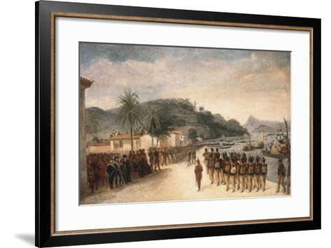 1811-14 Expedition Against Montevideo-Jean Baptiste Debret-Framed Art Print