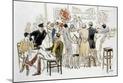 Bars and Cabarets of Paris-Georges Goursat Sem-Mounted Art Print