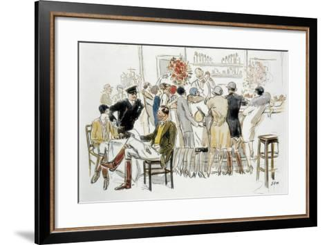 Bars and Cabarets of Paris-Georges Goursat Sem-Framed Art Print