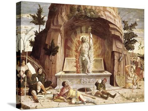The Resurrection-Andrea Mantegna-Stretched Canvas Print