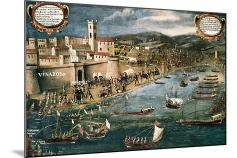 Embarkation of Moriscos in the Harbor of Vinaroz, Spain-Pere Oromig and Francisco Peralta-Mounted Art Print