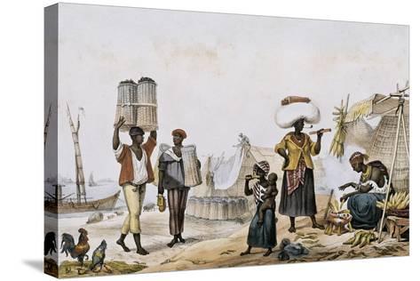 Coal and Vegetable Sellers-Jean Baptiste Debret-Stretched Canvas Print