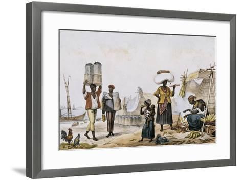 Coal and Vegetable Sellers-Jean Baptiste Debret-Framed Art Print