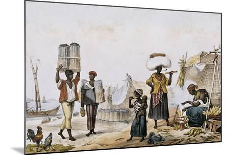 Coal and Vegetable Sellers-Jean Baptiste Debret-Mounted Art Print
