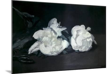 Branch of White Peonies and Secateurs-Edouard Manet-Mounted Art Print