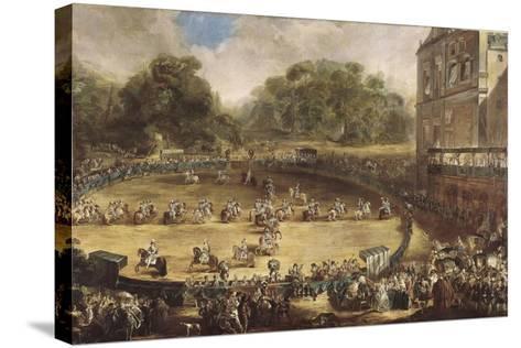 Royal Equestrian Parade, Aranjuez, Spain-Luis Paret y Alcazar-Stretched Canvas Print