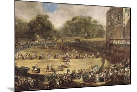Royal Equestrian Parade, Aranjuez, Spain-Luis Paret y Alcazar-Mounted Art Print