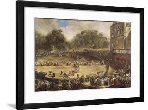 Royal Equestrian Parade, Aranjuez, Spain-Luis Paret y Alcazar-Framed Art Print