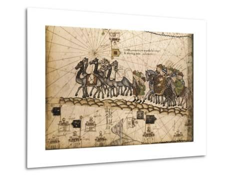 Catalan Atlas-Jafuda and Abraham Cresques-Metal Print