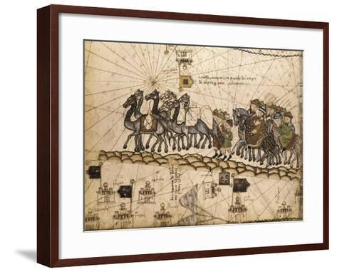 Catalan Atlas-Jafuda and Abraham Cresques-Framed Art Print