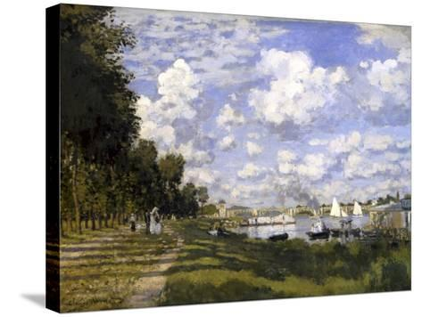 The Pond of Argenteuil-Claude Monet-Stretched Canvas Print