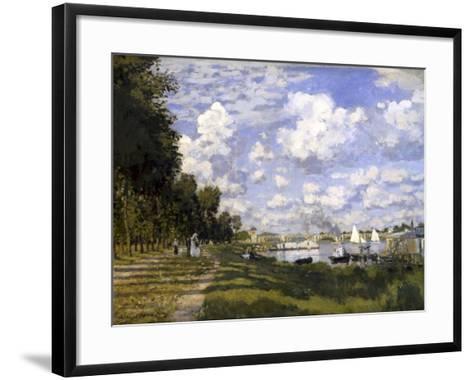 The Pond of Argenteuil-Claude Monet-Framed Art Print