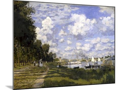The Pond of Argenteuil-Claude Monet-Mounted Art Print