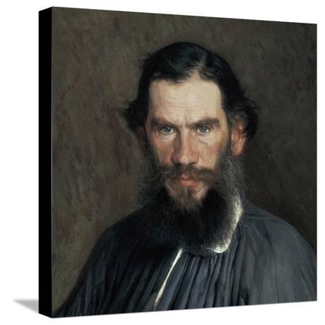 Leon Tolstoy-Ivan Nikolaevic Kramskol-Stretched Canvas Print
