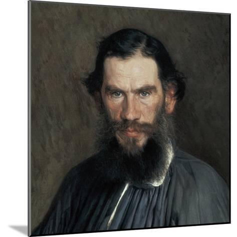 Leon Tolstoy-Ivan Nikolaevic Kramskol-Mounted Art Print
