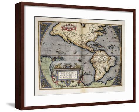 Map of America-Abraham Ortelius-Framed Art Print