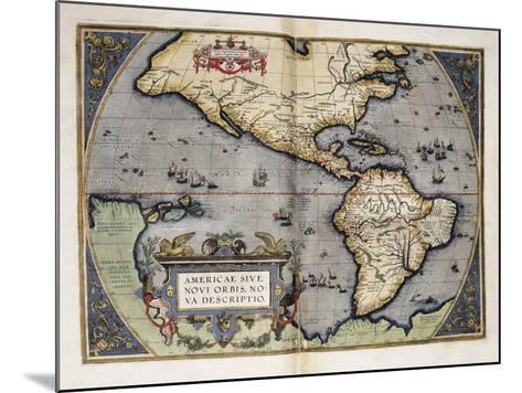 Map of America-Abraham Ortelius-Mounted Art Print