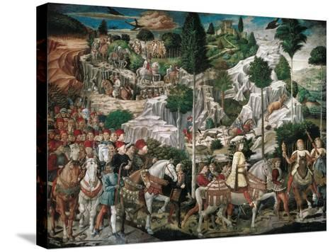 Procession of the Youngest King-Gozzoli Benozzo-Stretched Canvas Print