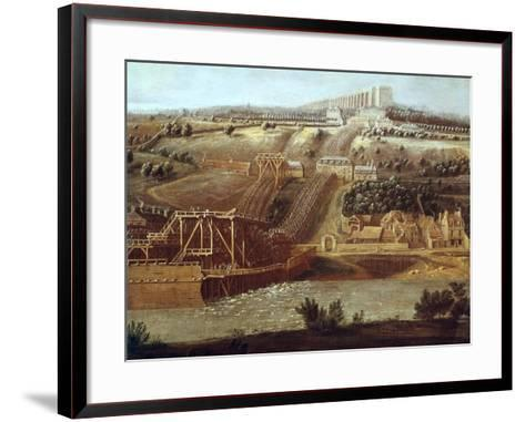 La Machine De Marly-Pierre Deni Martin the Younger-Framed Art Print