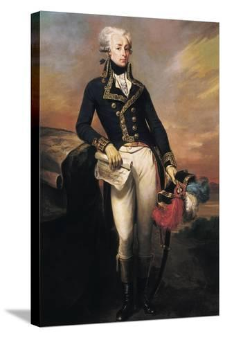 Gilbert Motier, the Marquis De La Fayette as a Lieut-Joseph Desire Court-Stretched Canvas Print
