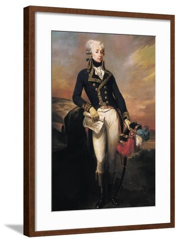 Gilbert Motier, the Marquis De La Fayette as a Lieut-Joseph Desire Court-Framed Art Print