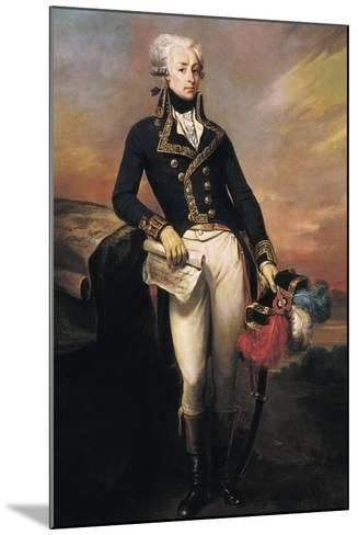 Gilbert Motier, the Marquis De La Fayette as a Lieut-Joseph Desire Court-Mounted Art Print