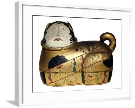 Japanese Cat Shaped Container for Newborn's Clothing and Talisman Against Evil Spirits--Framed Art Print