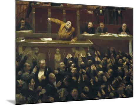 Jean Jaures Speaking in the Chamber of Deputies-Jean Veber-Mounted Art Print