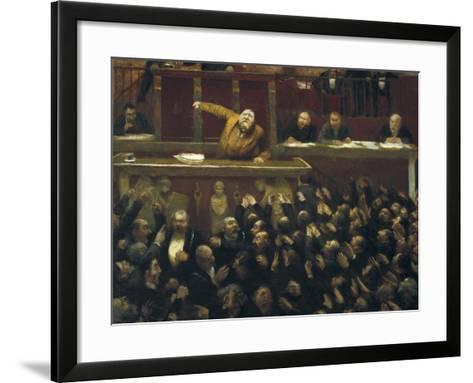 Jean Jaures Speaking in the Chamber of Deputies-Jean Veber-Framed Art Print