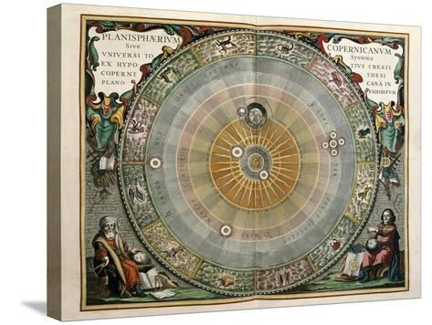 Universe on the Model of Copernicus with Sun in Center-Andreas Cellarius-Stretched Canvas Print