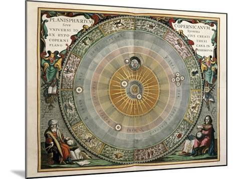 Universe on the Model of Copernicus with Sun in Center-Andreas Cellarius-Mounted Art Print