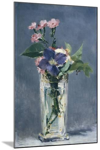 Clematis in a Crystal Vase-Edouard Manet-Mounted Art Print