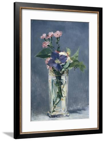 Clematis in a Crystal Vase-Edouard Manet-Framed Art Print